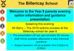 Year 8 options evening image